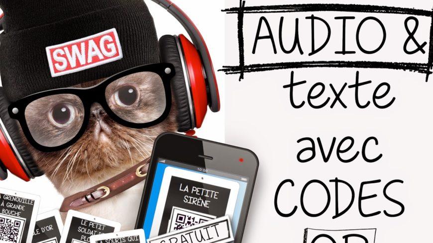 12 signets iPad-Histoires AUDIO avec Codes QR