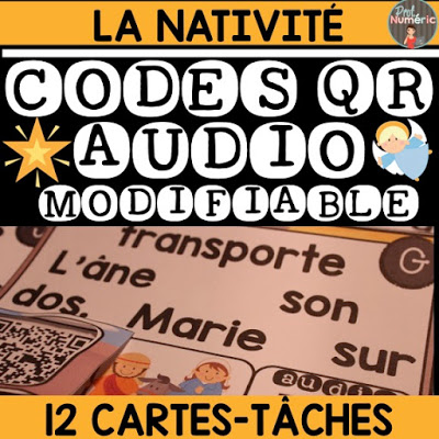 GRATUIT-Cartes-Tâches CODES QR AUDIO- LA NATIVITÉ