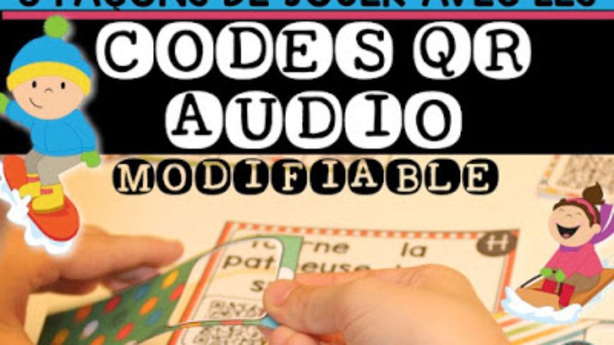 Jouer avec les MOTS et les CODES QR AUDIO