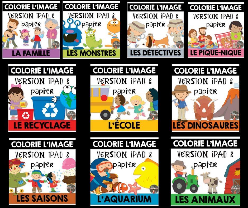 Compréhension de lecture et Coloriez l'image - L'ENSEMBLE CMPLET 10 Cahiers