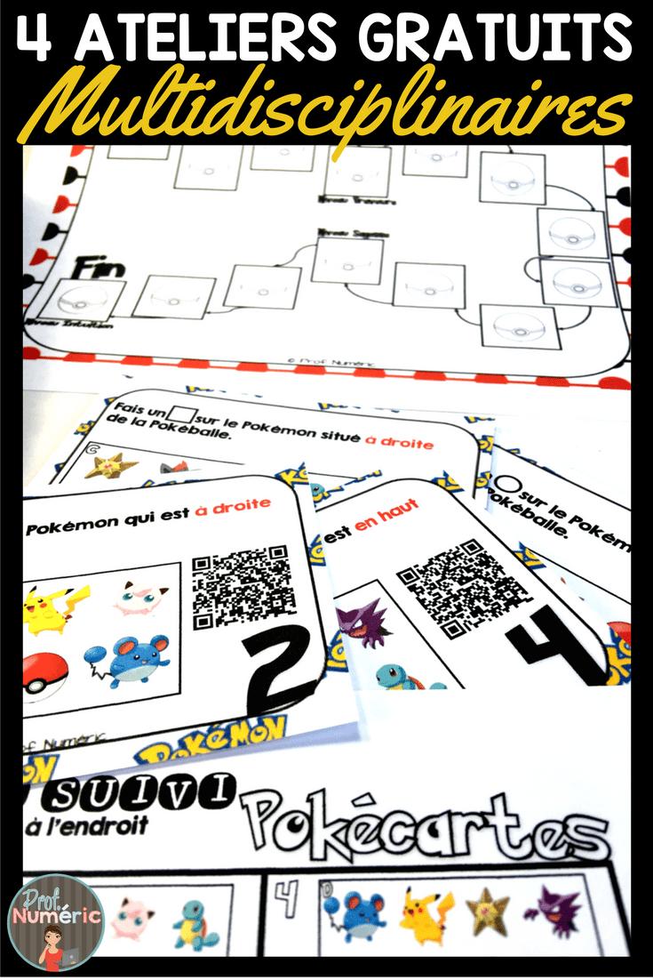 Pokémons de retour en classe, 3 ateliers gratuits!