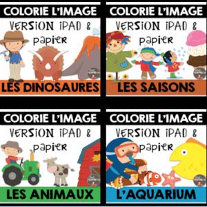 Colorie l'image dans Seesaw pour la Compréhension de lecture