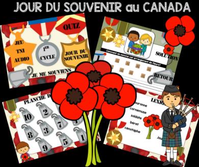 Jour du souvenir au Canada - 11 novembre