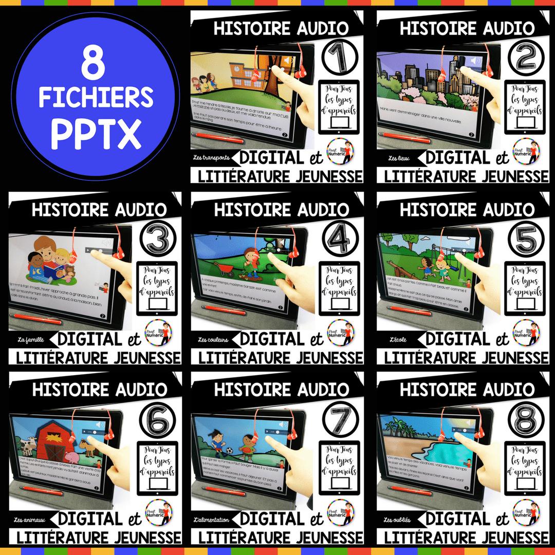 8 Histoires AUDIO (Compatible tous types d'appareils mobiles)
