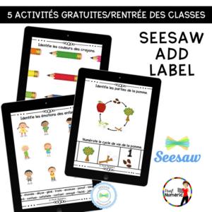 5 Activités Seesaw pour le retour en classe!