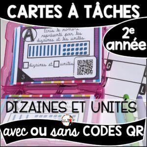 Cartes à Tâches avec CODES QR- Dizaines et unités