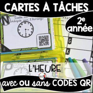 Cartes à Tâches avec CODES QR- L'Heure