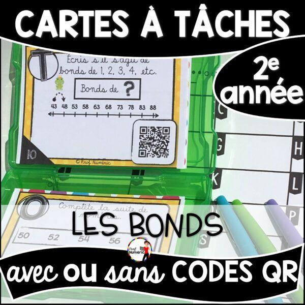 Cartes à Tâches avec CODES QR- Les Bonds