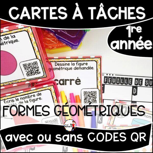 Cartes à Tâches de mathématiques 1re année du primaire. Formes géométriques.