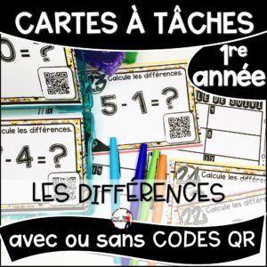 Cartes à Tâches avec CODES QR- Les Différences