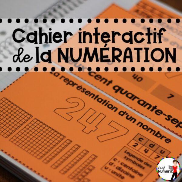 Cahier interactif de la numération -  1er cycle du primaire