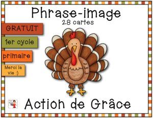 Action de Grâce - Associe l'image et la phrase - GRATUIT