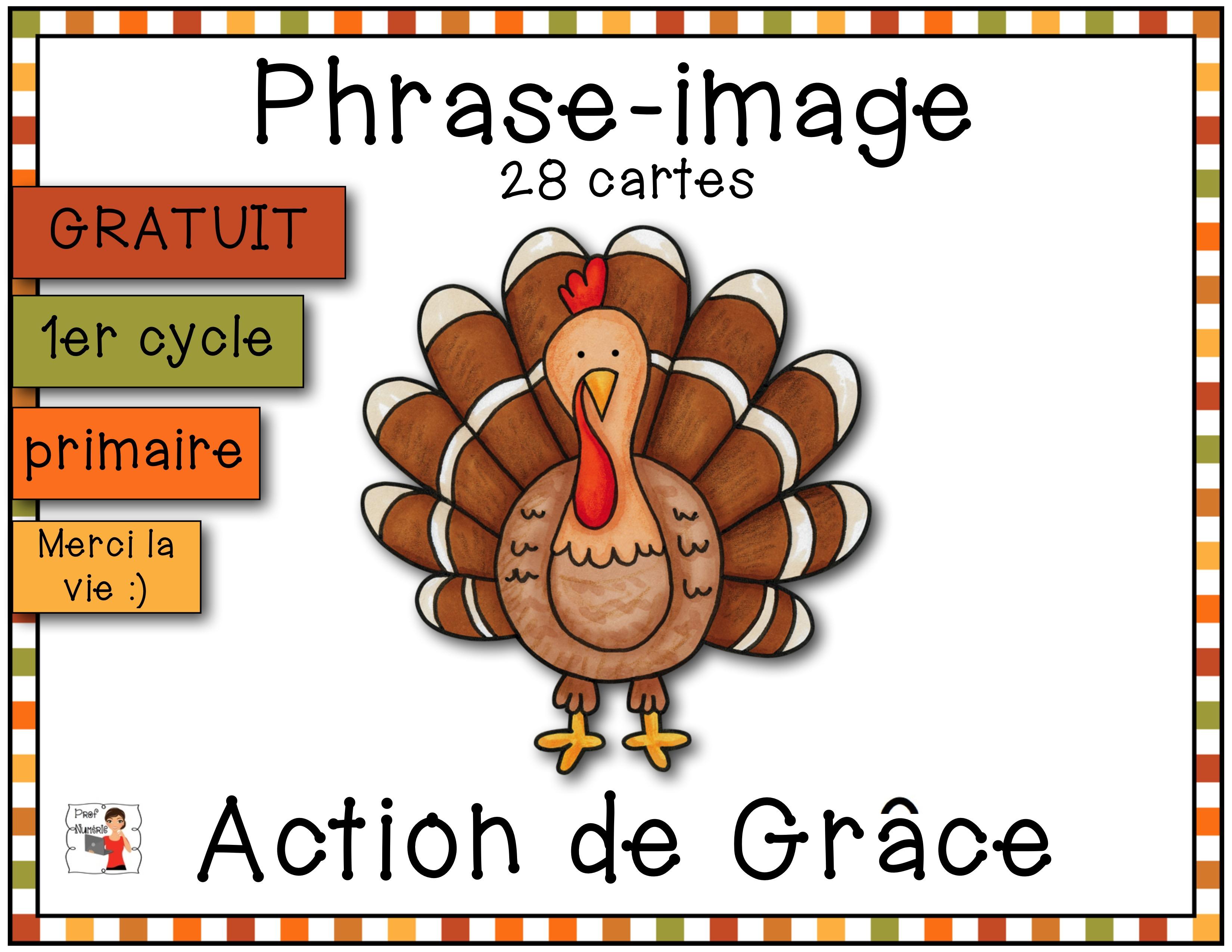 Action de Grâce-Phrase Image (GRATUIT)