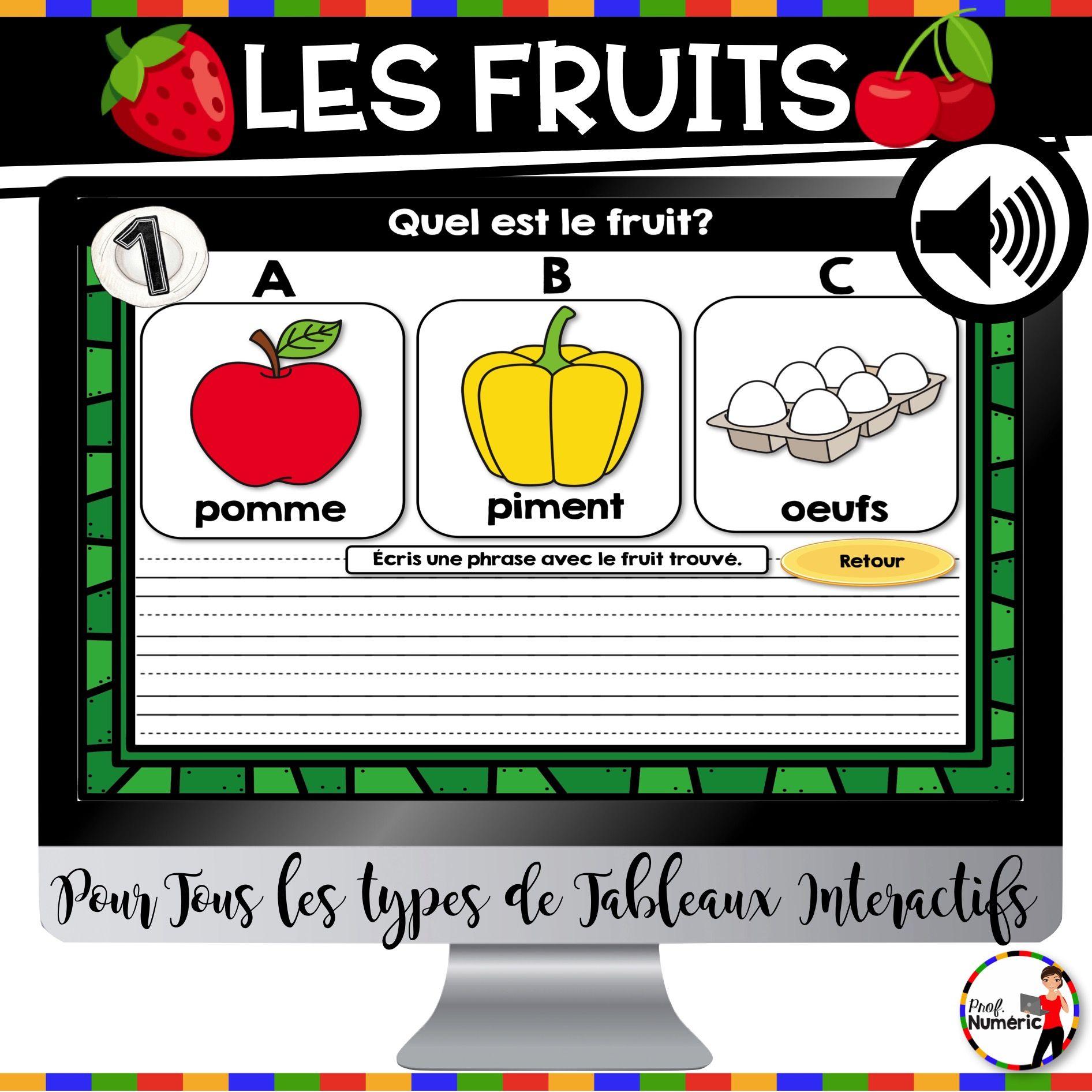 TNI : L'alimentation : Fruits (légumes, substituts, poissons, produits laitiers, etc.)