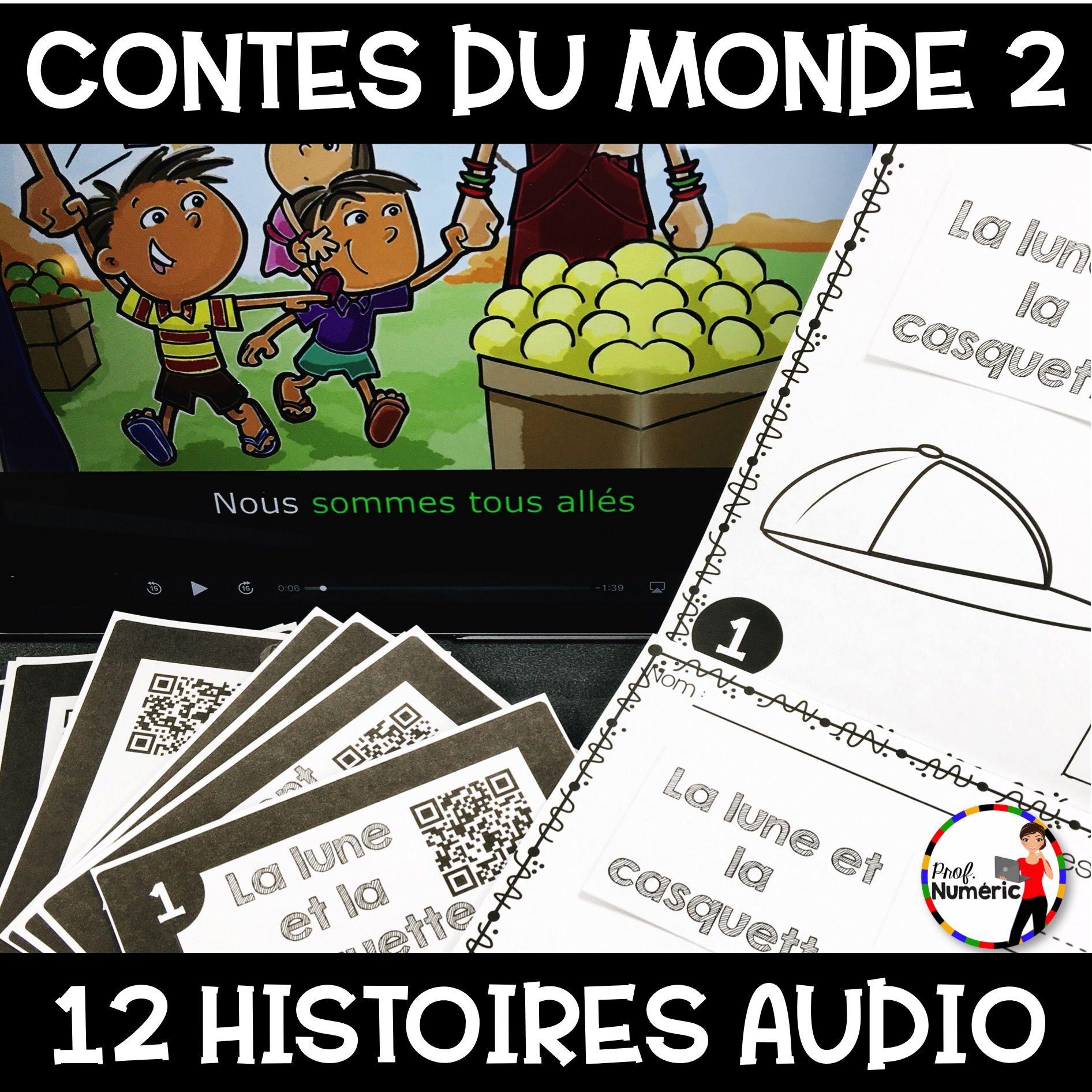 Contes du monde 2 (12 Histoires AUDIO + Tâches écrites)