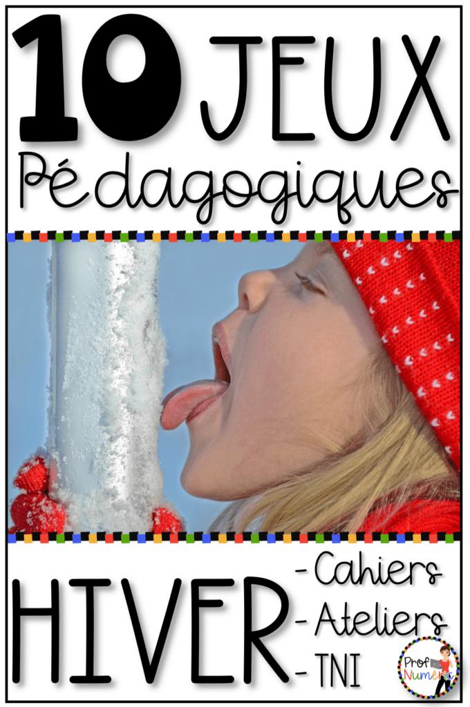 10 Jeux pédagogiques sur le thème de l'hiver au mois de janvier