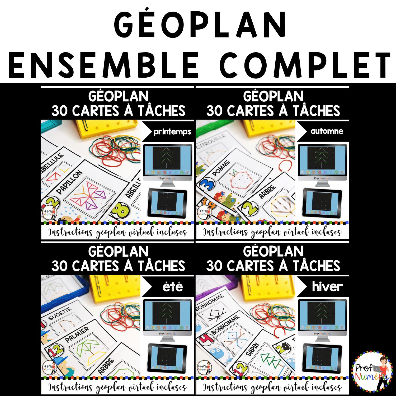 GÉOPLAN – 120 Cartes à Tâches (imprimer/virtuel) ENSEMBLE COMPLET