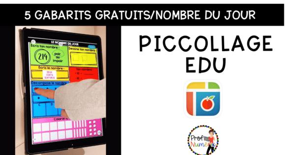 PicCollage en mathématiques sur iPad