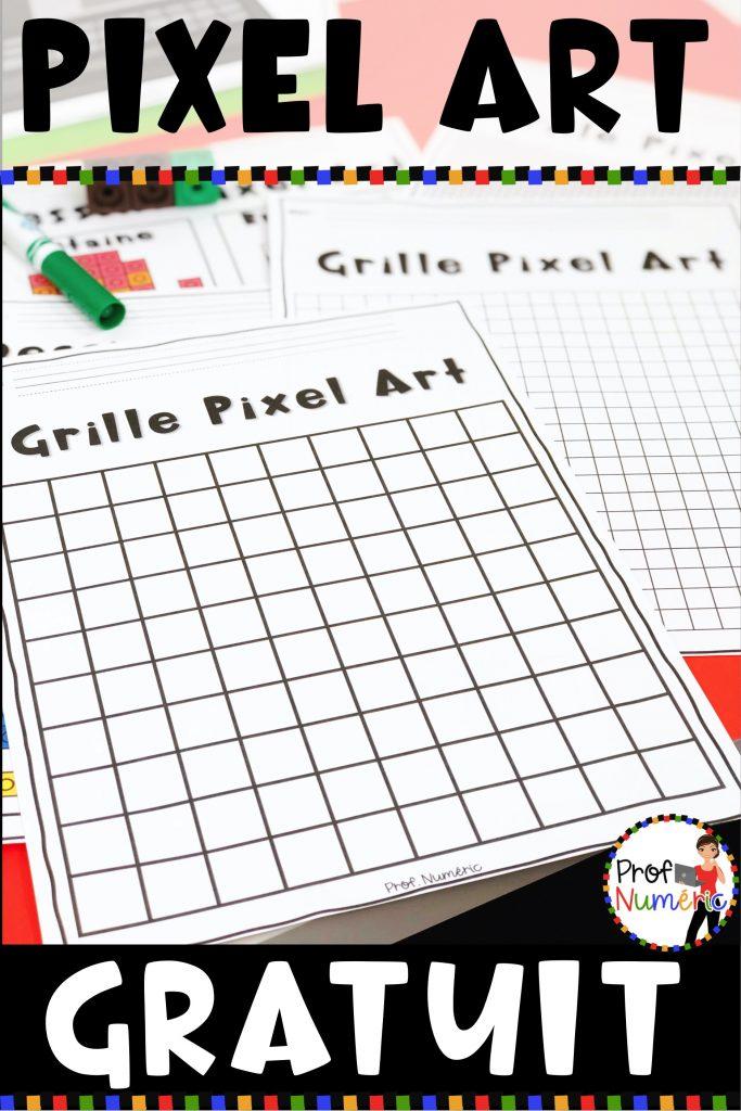 Dessin Pixel Art Numérique ou à imprimer