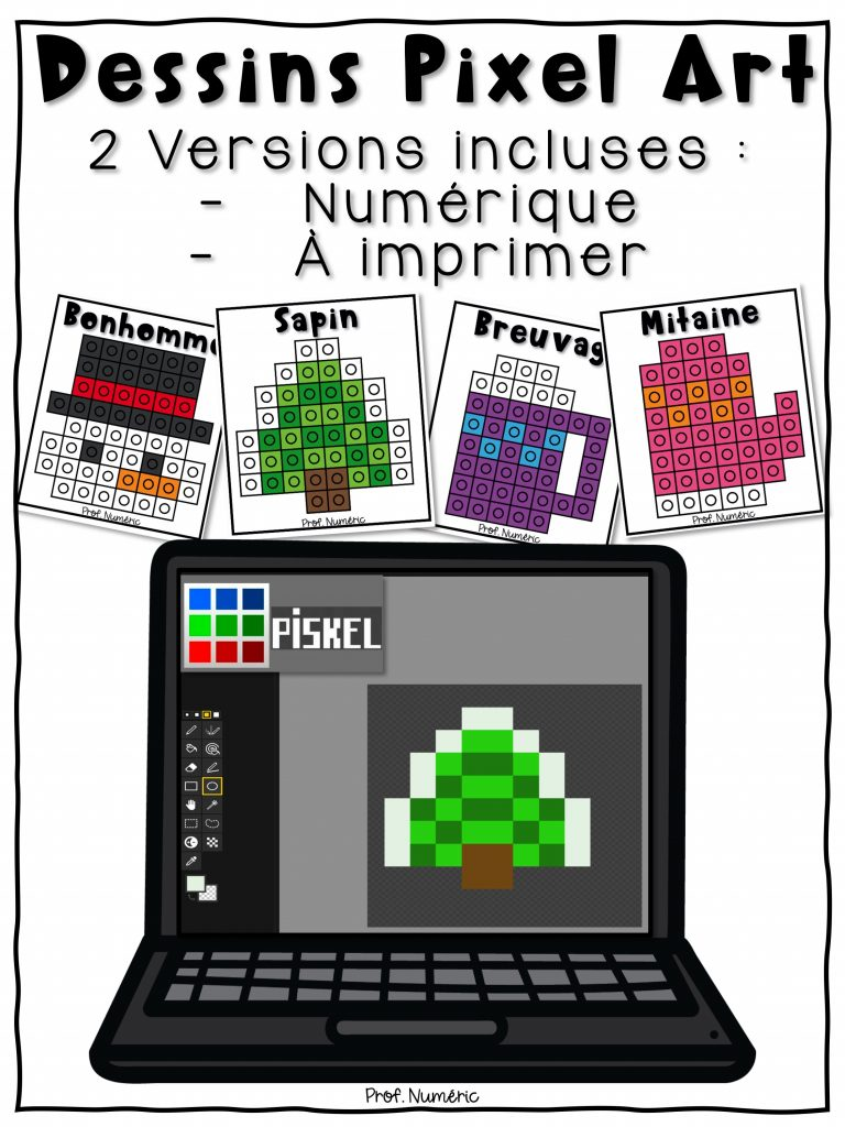 Dessins Pixel Art Numérique Prof Numéric