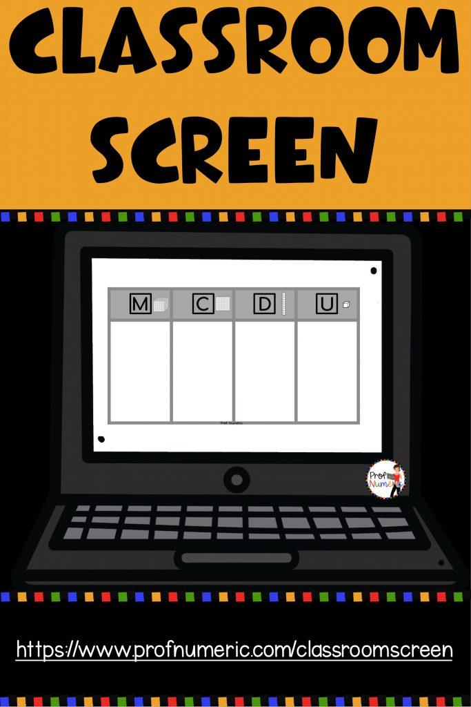 ClassroomScreen et la gestion de classe au primaire